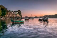 Sunset in Heisa island Nubia royalty free stock image