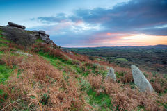 Sunset From Helman Tor Stock Images