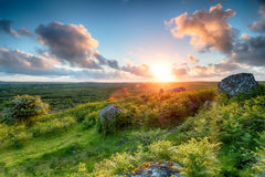 Sunset from Helman Tor Stock Photography