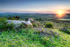 Sunset at Helman Torin Cornwall Royalty Free Stock Images