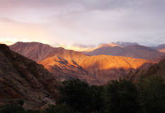 Sunset in Hemis, Ladakh range, Northern India Royalty Free Stock Photo