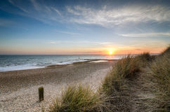 Sunset at Hengistbury Head Royalty Free Stock Image