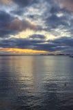 Sunset at Henningsvaer shoreline Royalty Free Stock Image