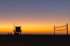Sunset at Hermosa Beach, LA Royalty Free Stock Image