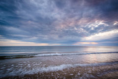 Sunset at Herring Cove Beach, in the Province Lands at Cape Cod royalty free stock images