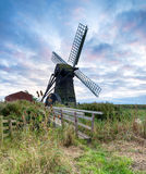 Sunset at Herringfleet Windmill Royalty Free Stock Photography