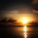 Sunset hexagon abstract background Royalty Free Stock Images