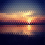 Sunset hexagon background Royalty Free Stock Photography