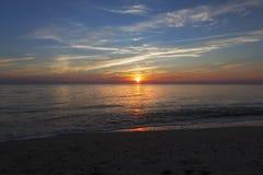 Sunset Higbee Beach New Jersey. Blue skies at Sunset Higbee Beach New Jersey royalty free stock photo