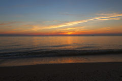 Sun Down At Higbee Beach. Sunset at Higbee Beach in New Jersey royalty free stock photo
