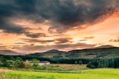 Sunset in the Highlands Stock Photo
