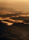 Sunset hiils. Beautiful sunset after rain at carpatian mountais Royalty Free Stock Photography