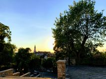 Sunset from a hill. In Old Town Plovdiv, Bulgaria Stock Images