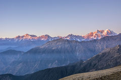 Sunset on Himalaya Stock Images