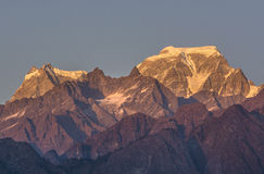 Sunset on Himalaya Royalty Free Stock Image