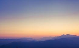 Sunset in Himalayas Royalty Free Stock Photos