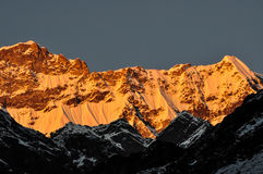 Sunset in Himalayas. A golden sunset in Himalayas Stock Image