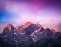 Sunset in Himalayas Stock Photography