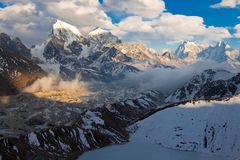 Beautiful mountain landscape at sunset. Himalayas. Nepal Royalty Free Stock Images