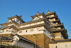 Sunset at Himeji castle Royalty Free Stock Images