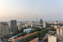 Sunset, Ho Chi Minh city. Ho Chi Minh City has the most dynamic economy in Vietnam Royalty Free Stock Image