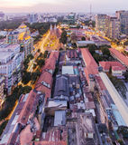 Sunset, Ho Chi Minh city. Ho Chi Minh City has the most dynamic economy in Vietnam Royalty Free Stock Photos