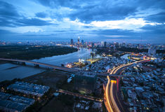 Sunset in Ho Chi Minh City, Vietnam Stock Image