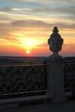 Sunset. Holi Dormition Pochayiv Lavra Royalty Free Stock Photo