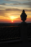 Sunset. Holi Dormition Pochayiv Lavra Stock Images