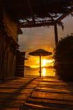 Sunset on holiday resort Stock Image