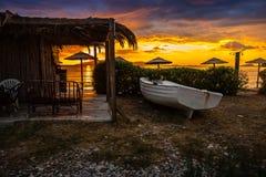 Sunset on holiday resort Stock Photography