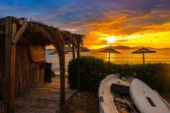 Sunset on holiday resort Royalty Free Stock Photo