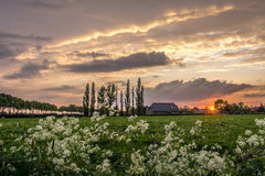 Sunset in Holland Royalty Free Stock Photography