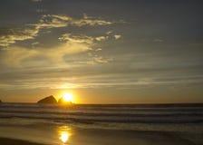 Sunset at holywell bay, newquay UK Stock Photo