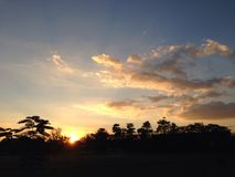 Sunset. At home Royalty Free Stock Photo