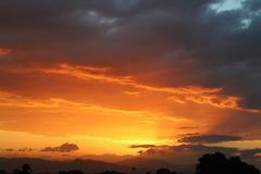 Sunset in Honduras royalty free stock photography