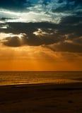 Sunset on Honeymoon Island, Florida Stock Photos