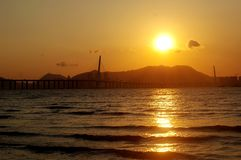 Sunset in Hong Kong Royalty Free Stock Images