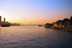 Sunset in Hong Kong Stock Image