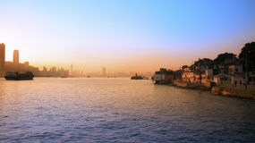 Sunset in Hong Kong Royalty Free Stock Photo
