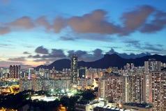 Sunset in hong kong Stock Photography