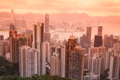 Sunset Hong Kong Royalty Free Stock Image