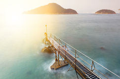 Sunset in hong kong Bathing pavilion Stock Photography