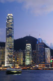 Sunset in Hong Kong City Stock Photos