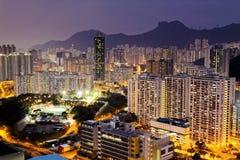 Sunset hongkong city Royalty Free Stock Photos