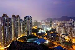Sunset hongkong city Stock Photo