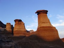 Sunset hoodoos Stock Images