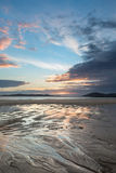 Sunset on Horgabost beach Royalty Free Stock Photos
