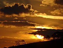 Sunset, Horizon, Cloud, Landscape Royalty Free Stock Photography