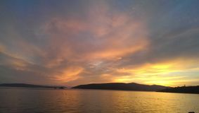 Sunset. In the horizon, Croatia Stock Photo